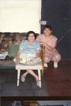 My grandmother and I,  celebrating my 15th birthday.