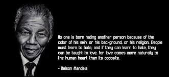 Mandela with quote
