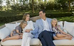 Charming Prince Felipe and his family